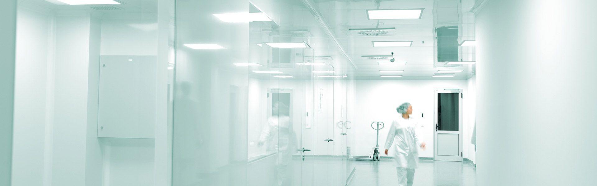 clean lab pvc walls